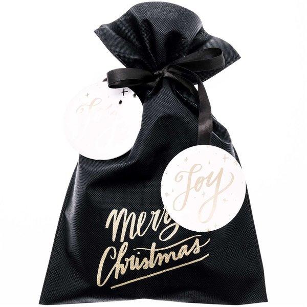 Paper Poetry Geschenktüte Merry Christmas schwarz 30x45cm