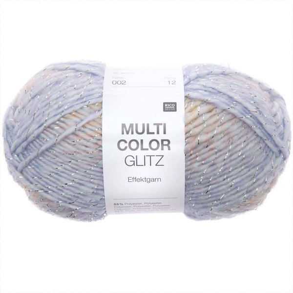 Rico Design Multicolor Glitz pastell Mix 50g 90m