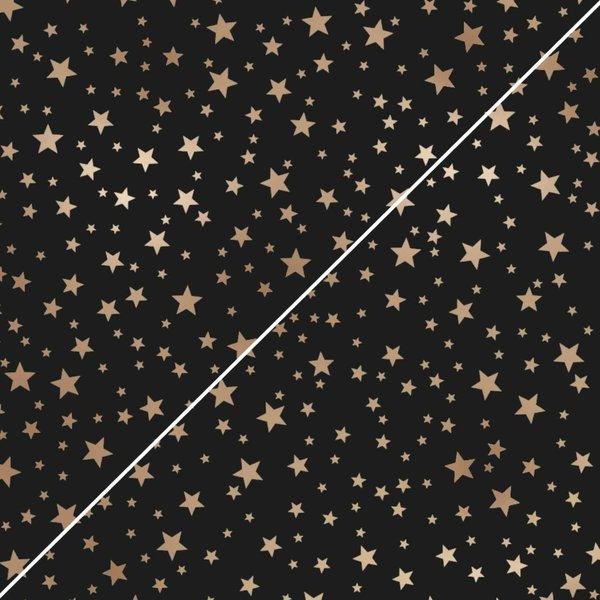 MARPA JANSEN Faltblätter schwarz Mini Sterne kupfer 20x20cm 130g 32 Blatt