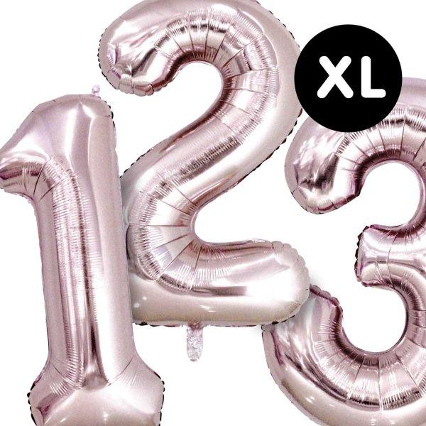 YEY! Let's Party Folienballon Zahl rosa 86cm