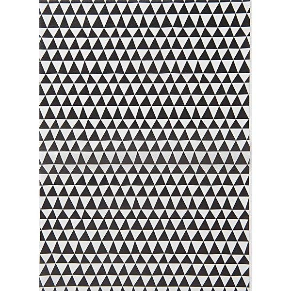 Rico Design SB Paper Patch Papier Dreiecke schwarz-weiß 30x42cm 3 Bogen