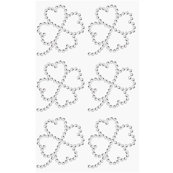 Paper Poetry Strass-Sticker Kleeblatt crystal