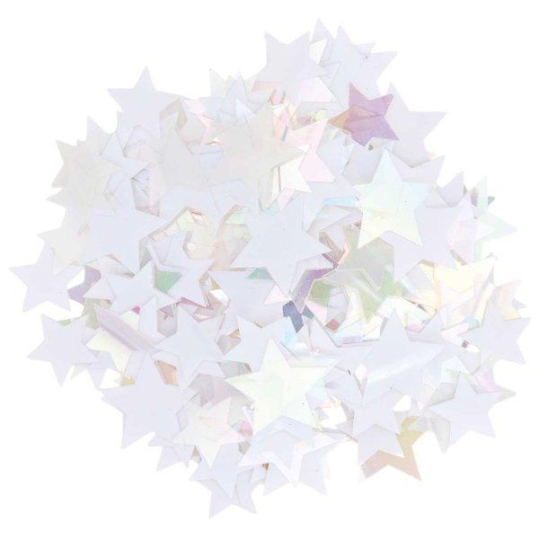 Ohhh! Lovely! Flitterstreu Stern Mix weiß-irisierend 200 Stück