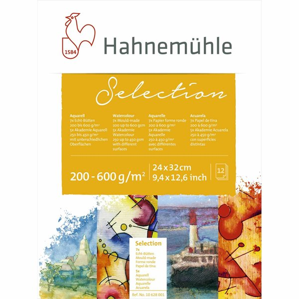 Hahnemühle Aquarell Selection Block 24x32cm 12 Blatt