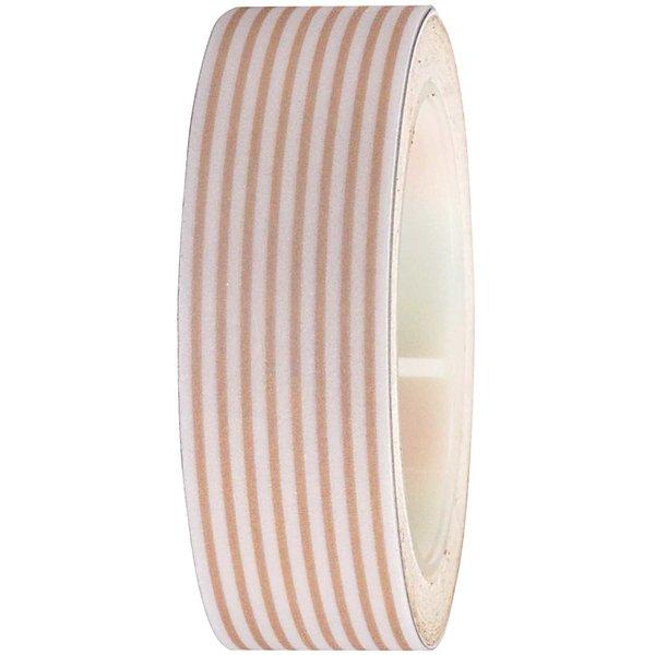 Rico Design Tape weiß-bronze gestreift 15mm 10m