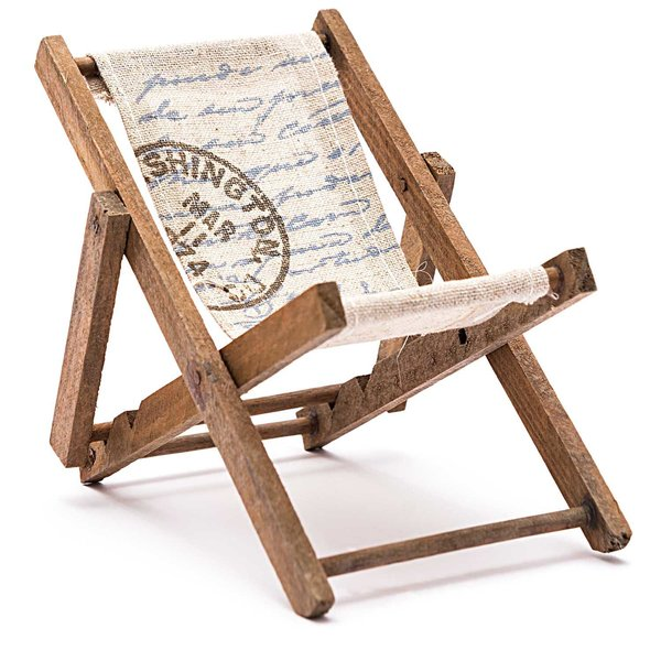 Deko Liegestuhl groß natur 19,5cm Holz