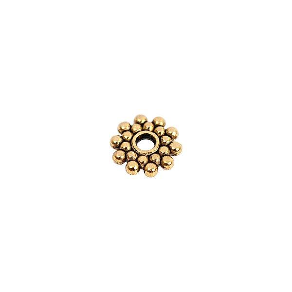 Rico Design Scheibe rund gold 8x2mm 30 Stück