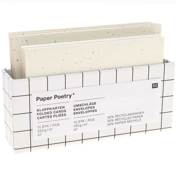 Paper Poetry Kartenset elfenbein C7/A7 20teilig