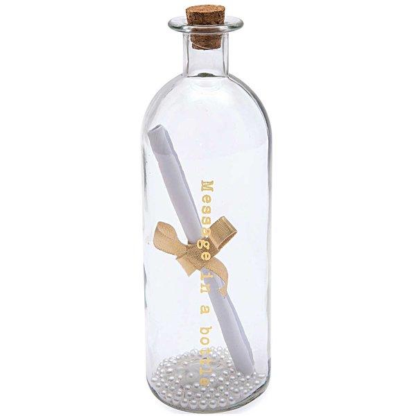 Flasche Message in a bottle mit Perlen