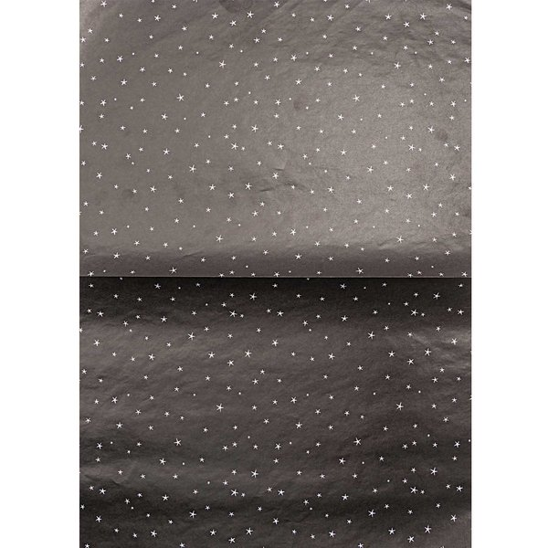 Rico Design Paper Patch Papier Sterne schwarz 30x42cm Hot Foil