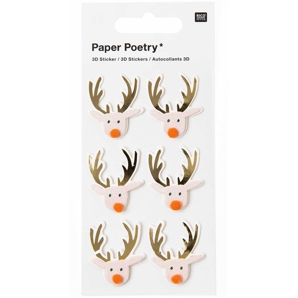 Paper Poetry 3D Sticker Rentier puder