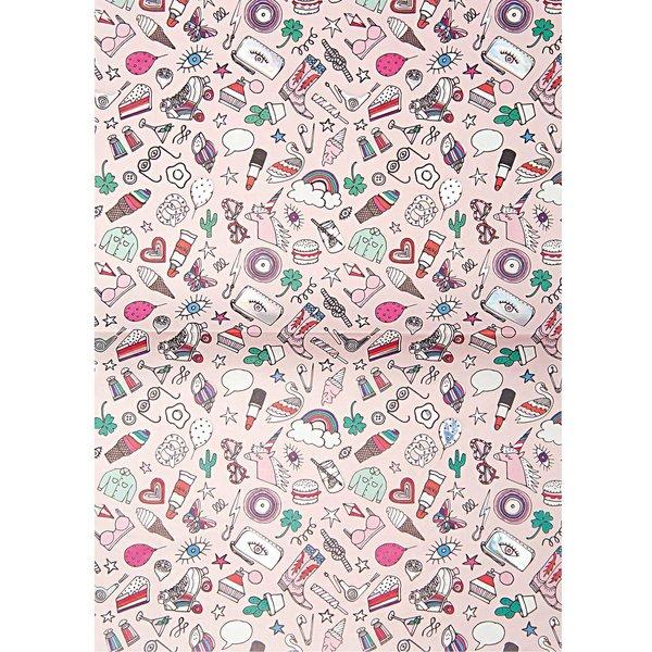 Rico Design Paper Patch Papier Icons rosa 30x42cm Hot Foil