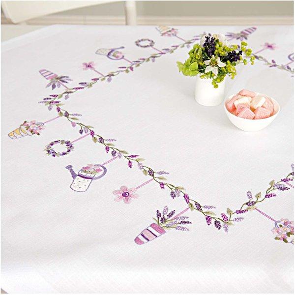 Rico Design Stickpackung Decke Lavendelranke 90x90cm