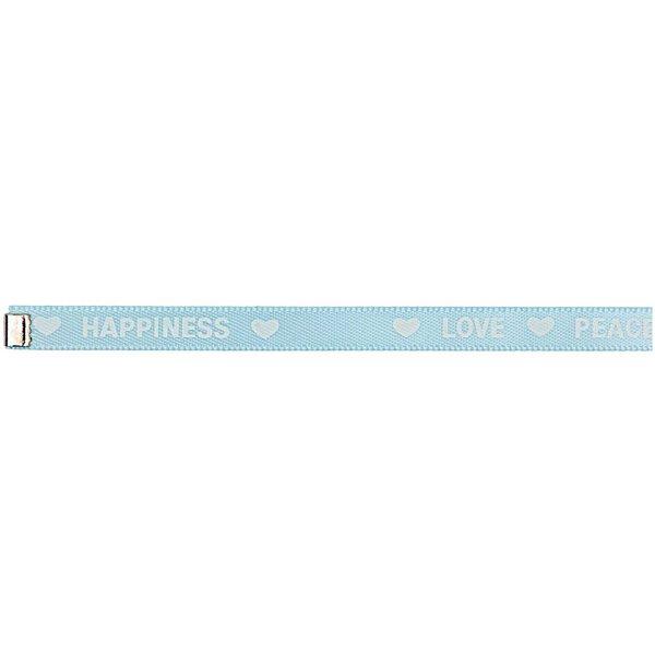 Rico Design Webband bedruckt hellblau-weiß M/L 5x180 mm
