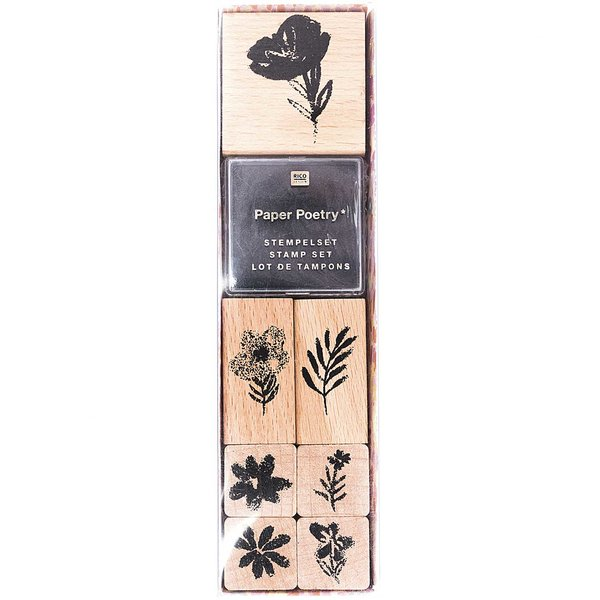 Paper Poetry Stempelset Crafted Nature Blumen 7 Stempel