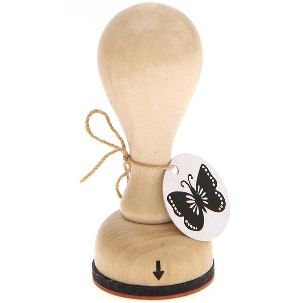 Rico Design Stempel Schmetterling rund 3,5cm