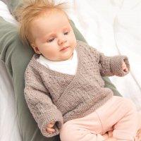 Strickset Jacke & Mütze Modell 19/20 aus Rico Baby Nr. 028