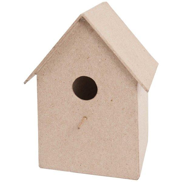 Rico Design Pappmaché Vogelhaus groß 12,5x17x10,5cm