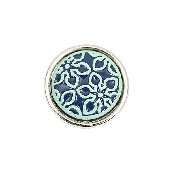 Rico Design Knopf Blume blau 14mm