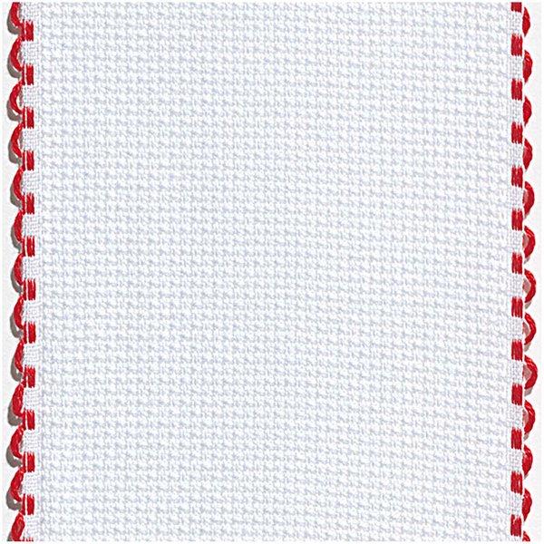 Rico Design AIDA-Band gebleicht-rot mit Bogenkante 6 Stiche/cm 5cm