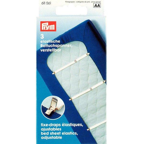 Prym Betttuchspanner weiß 18mm 3 Stück