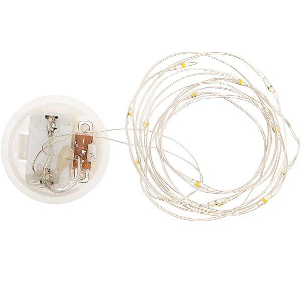 Rico Design LED-Lichterkette für Dekohaube silber 1,50m 15 Lichter