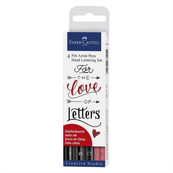 Faber Castell Tuschestift Pitt Artist Pen Handlettering 4 Stück