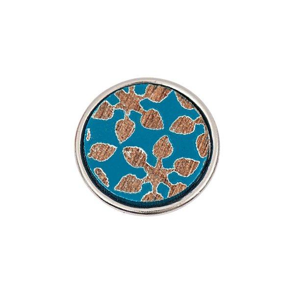 Rico Design Knopf Blumen blau 14mm