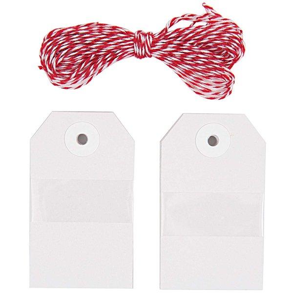 Paper Poetry Geschenkanhänger eckig weiß 20 Stück