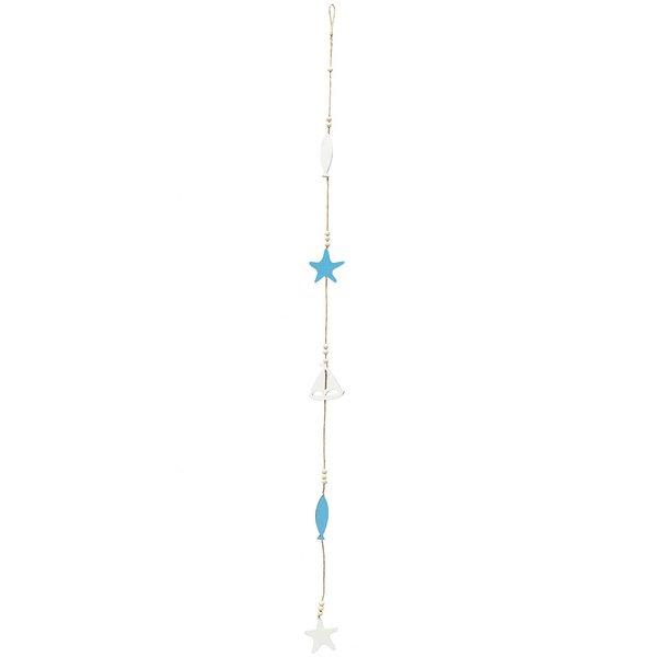 Girlande Maritim blau-weiß 103cm