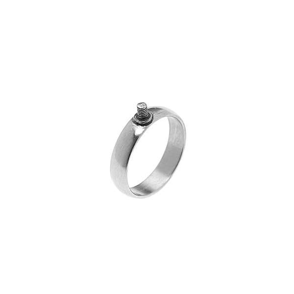 Rico Design Ring schmal 17mm Schraubgewinde silber