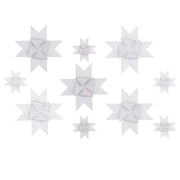 Paper Poetry Fröbelstreifen Graphic weiß-irisierend 40 Stück