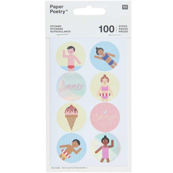 Paper Poetry Sticker Strand 4 Blatt