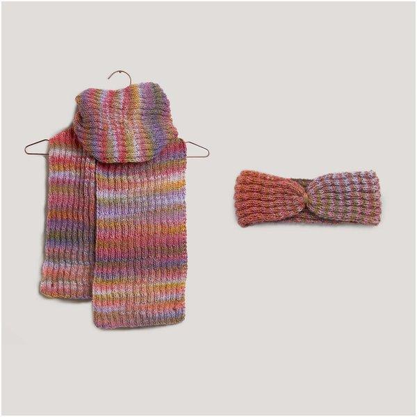 Strickset Stirnband und Schal Modell 23/24 aus Die Neue Masche Nr. 2