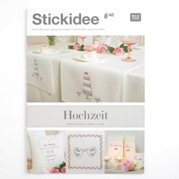 Rico Design Stick-Idee Nr.48 Hochzeit