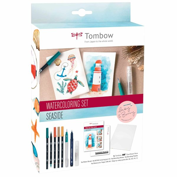 Tombow Watercoloring Set Seaside by May & Berry