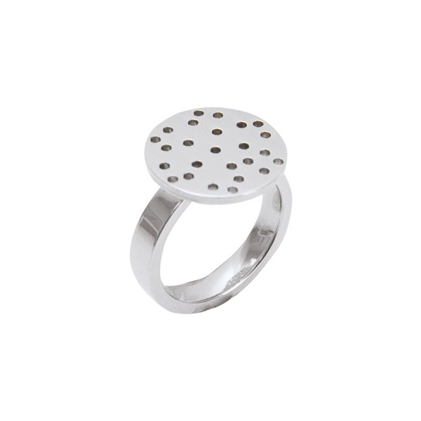 Rico Design Ring mit Sieb Edelstahl 21mm