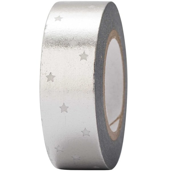 Paper Poetry Tape Sterne silber 15mm 10m Hot Foil