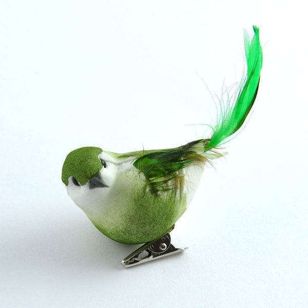 Vogel grün 8,5cm
