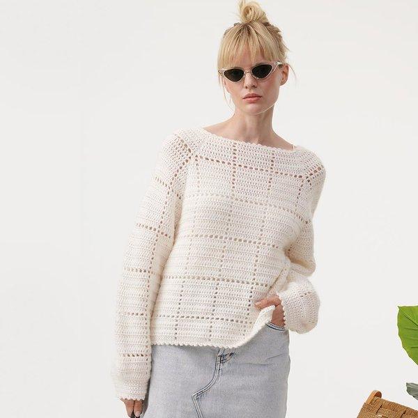 Häkelset Pullover in Weiß aus Crochet Collection