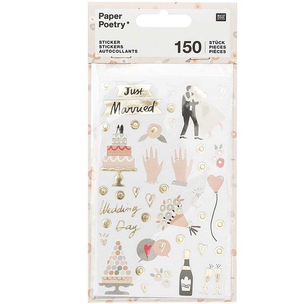 Paper Poetry Sticker Hochzeit 4 Blatt