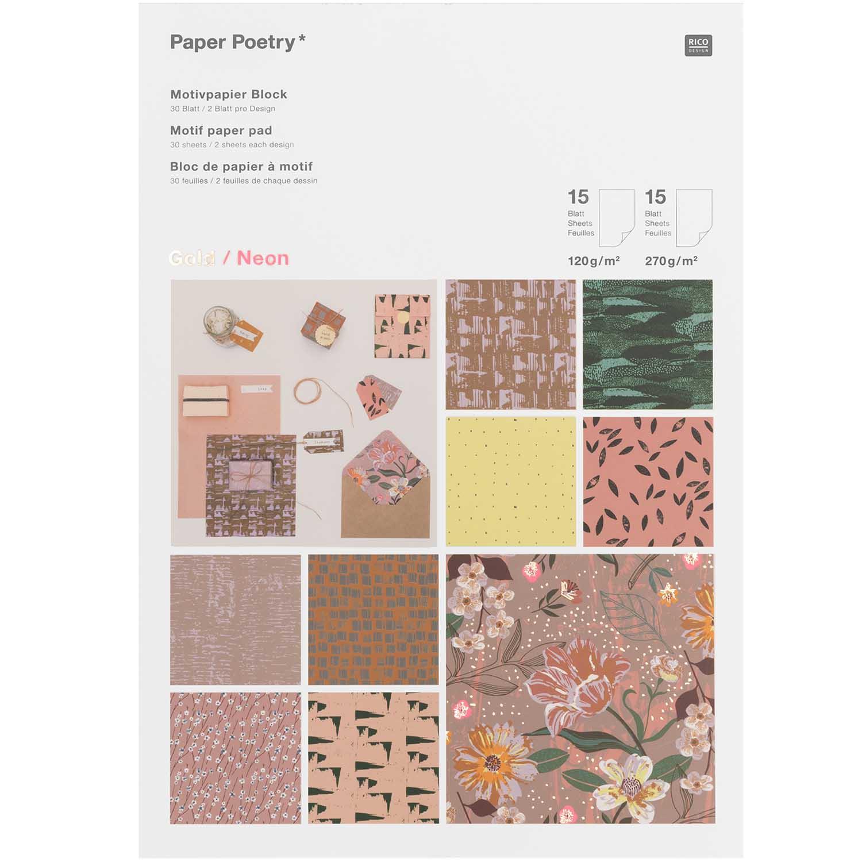 20/Blatt Motivpapier 100/g//qm Blumenranken