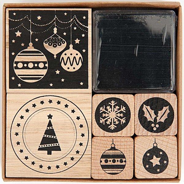 Paper Poetry Stempelset Modern Christmas 6 Stück
