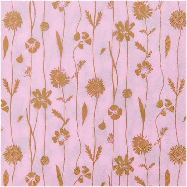 YEY! Let's Party Servietten Blumenranken rosa 33x33cm 20 Stück