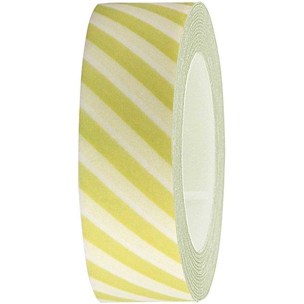 Rico Design Tape weiß-pastellgrün gestreift 15mm 10m