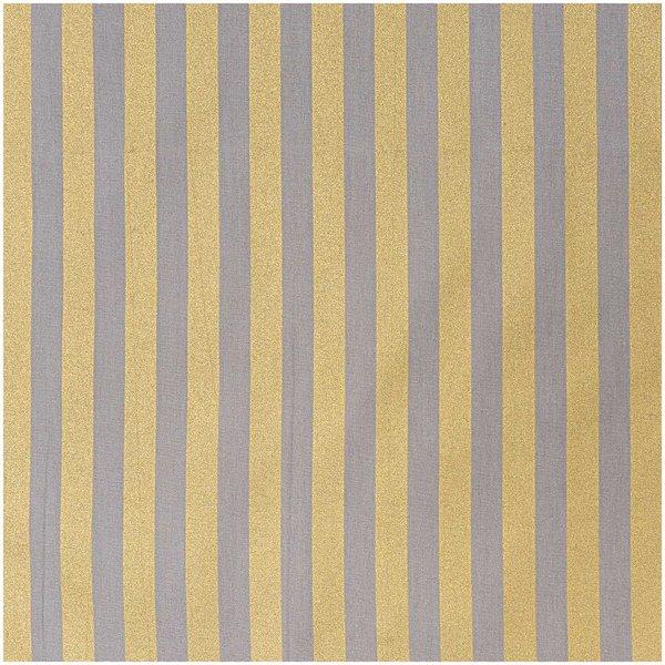 Rico Design Stoff Streifen grau-gold 50x140cm