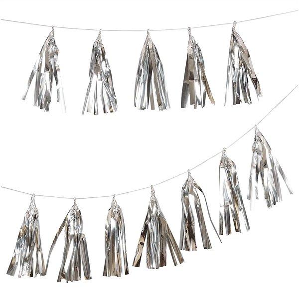 Paper Poetry Girlande Quasten silber 2,8m