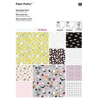 Paper Poetry Motivpapier Block Halloween 30 Blatt Hot Foil