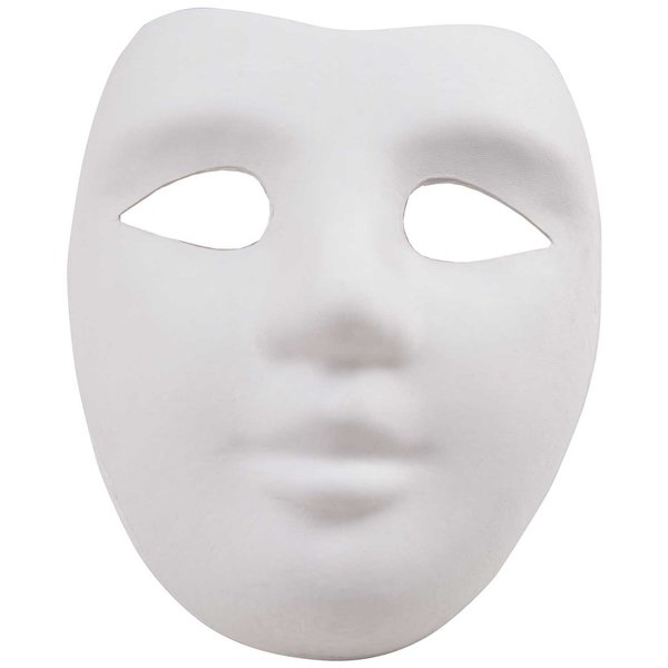 Rico Design Maske Gesicht weiß 18x22cm
