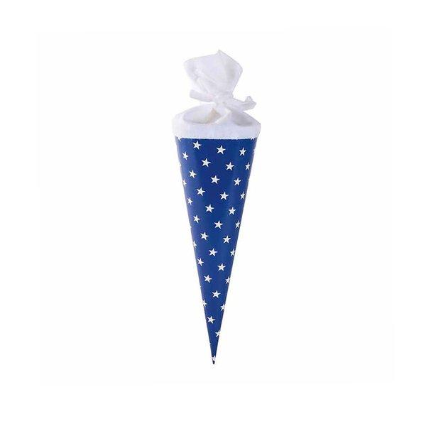goldbuch Schultüte klein Sterne blau-weiß 35cm